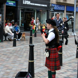16 bagpipers