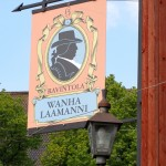 Wanha Laamanni Restaurant at the top of the hill